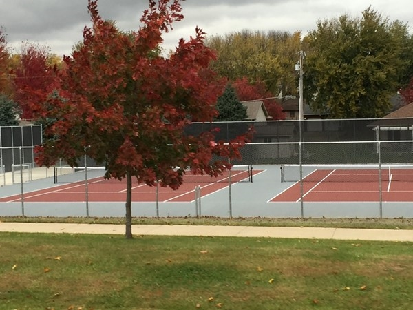 West Dubuque High School's brand new tennis court