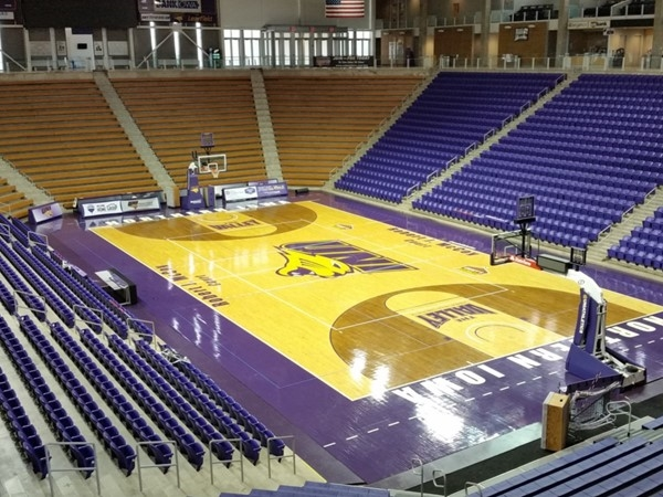Inside view of McLeod Center at University of Northern Iowa. Great place for sports and events