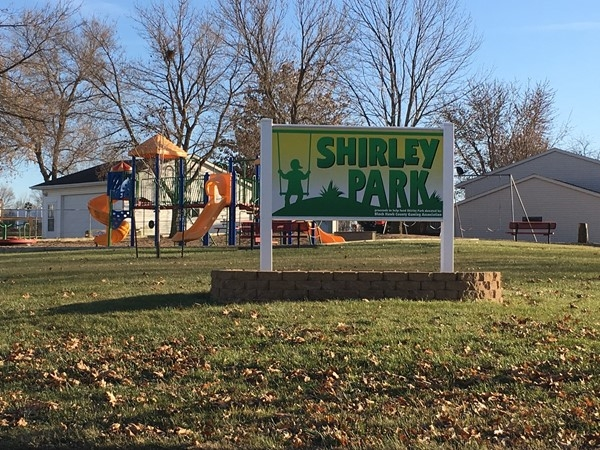 Gorgeous green space with several activities at the neighborhood park in Elk Run's Shirley Addition