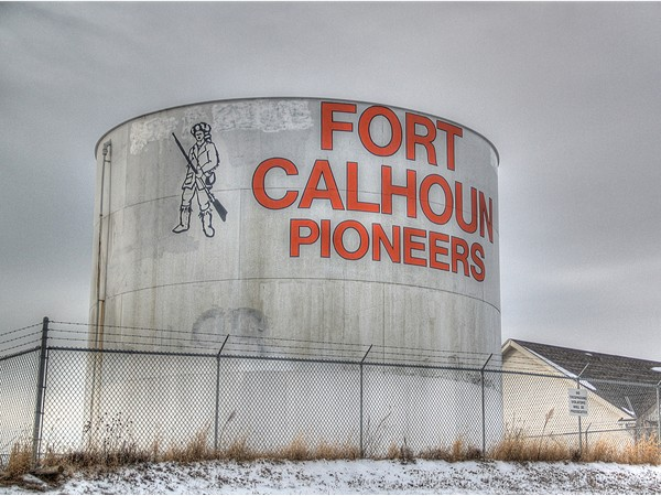 "The ""Fort Calhoun Pioneers"" water tower is a landmark all on its own"