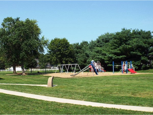 Angels Park/Myers Lake offering a covered shelter with electricity, trails and playground