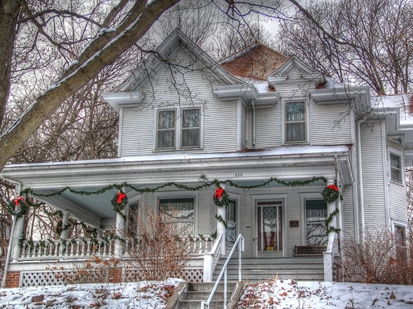 "The ""Frahm House"" gorgeously situated on top of a hill overlooking the town of Fort Calhoun"