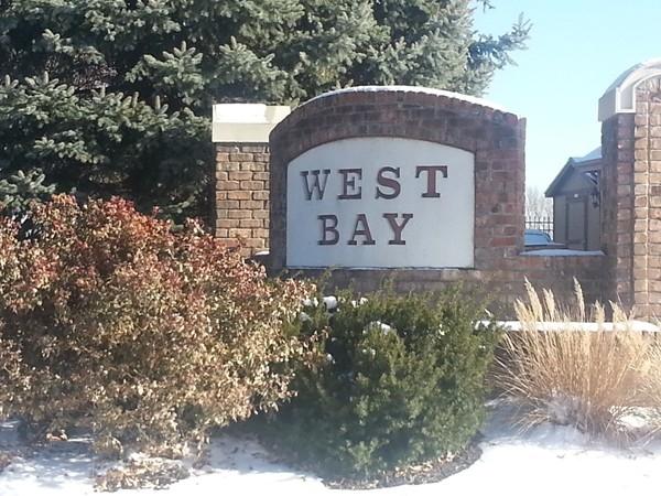 The West Bay neighborhood entrance