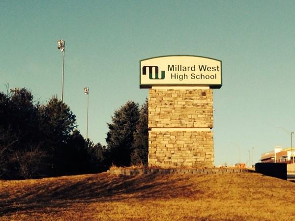 Millard West High School off Q St. and 176th