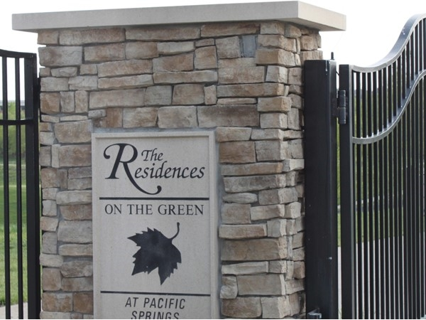 Residences on the Green is secluded, gated street of homes within Pacific Springs subdivision