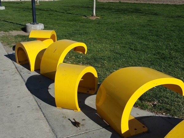 Golden Rod is part of an art installation series in Gene Leahy Mall