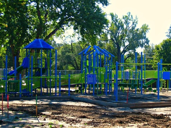 New playground under construction in Benson Park