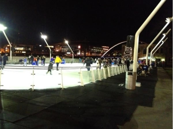 Brenton Skating Plaza at night