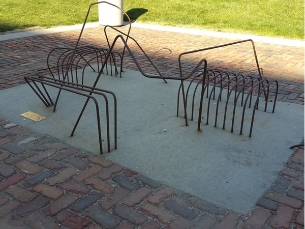 """Rebar is part of the """"Take A Seat"""" art display in downtown Omaha"""