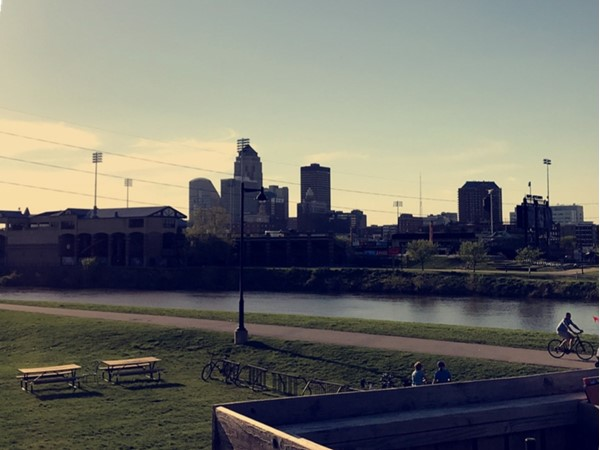 View of Principle Park and Downtown Des Moines
