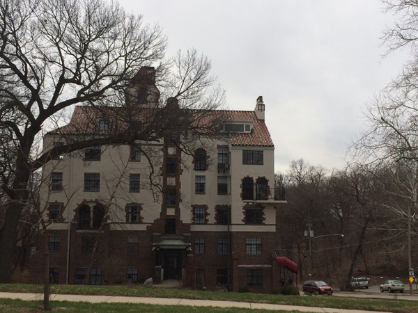 Magnificent building South of Grand. Today apartment complex, in the past a single family home