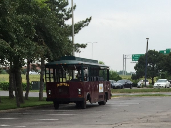 """We love it when we see """"Ollie the Trolly"""" out west! Pumpkin was in Regency yesterday"""