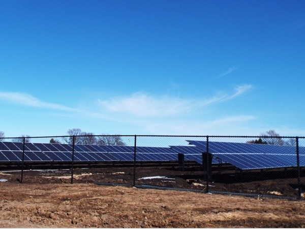 Panels are up and soaking in the rays at the Simply Solar, Community Owned Project in Cedar Falls