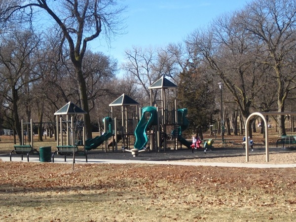 Playground area located at Pioneers Park