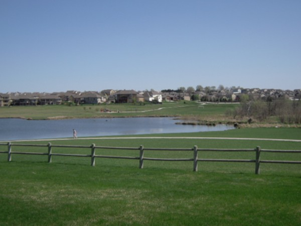 Lake in Whitehawk subdivision