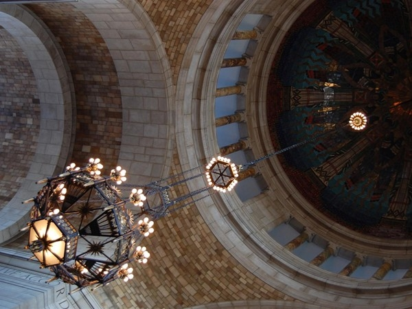 Dome of the rotunda at the State Capitol