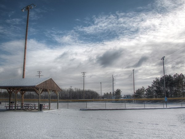 Awaiting warmer weather...at the baseball fields in Fort Calhoun, NE.
