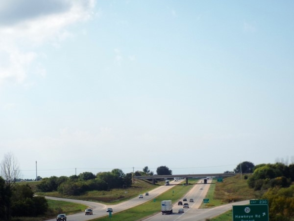 """Highway 20 provides a """"driver friendly"""" corridor for commuters in the Cedar Valley"""
