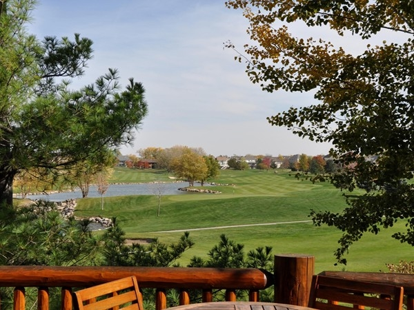"Gorgeous autumn day from Wilderness Ridge ""The Lodge"".  View onto the 18th hole!"