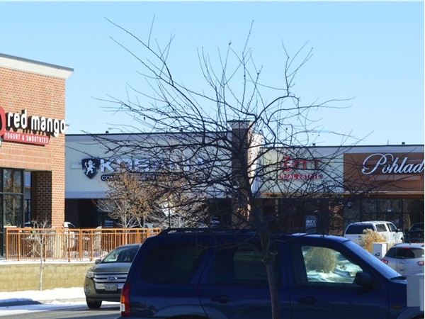 Shops of Legacy and the Pohlad Custom Homes Office 168th and Center