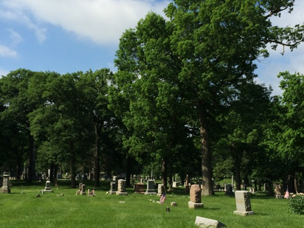 Beautiful view of Woodland Cemetery