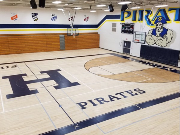 Hudson Schools has a new paint scheme and an updated gym! Go Pirates