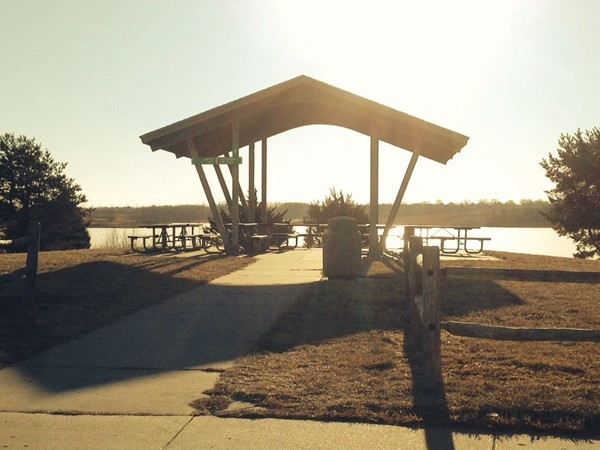 Picnic area at Zorinsky Lake just east of 168th