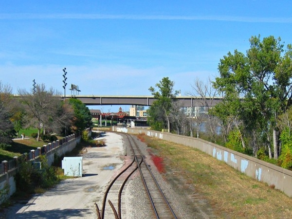 Riverfront and Railway in Omaha