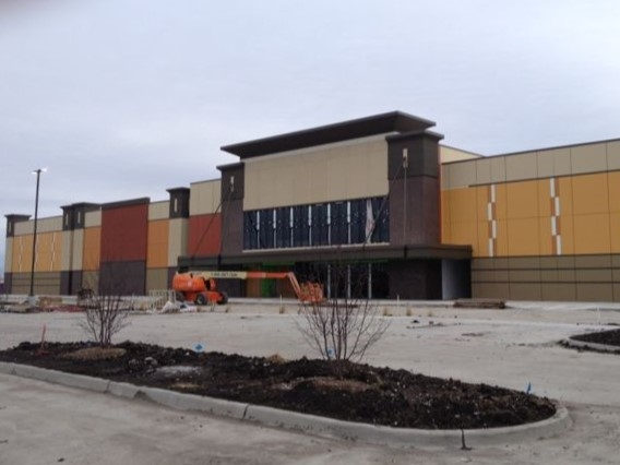 Nearly completed Cinemark Movie Theater in Altoona
