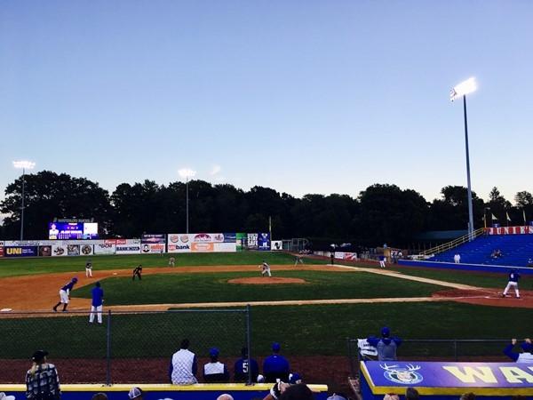 The Waterloo Bucks Baseball Team take the field at Riverfront Stadium every summer