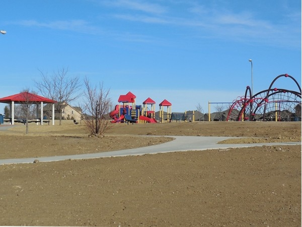 Stone Creek playground and trail (before sod)