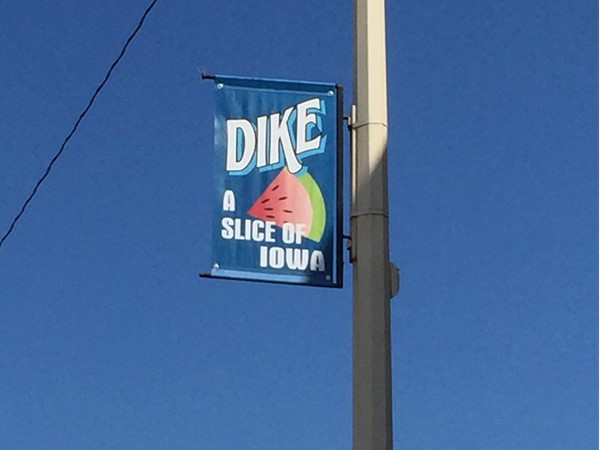 Dike is a slice of Iowa and about 10 miles west of Cedar Falls