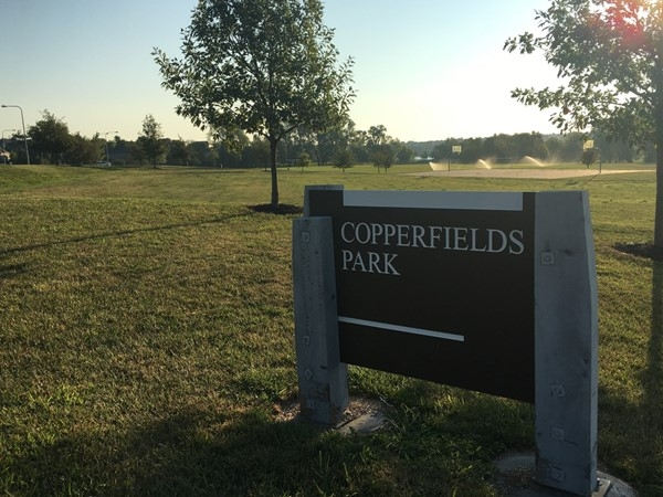 Copperfields Park includes a basketball court and football field