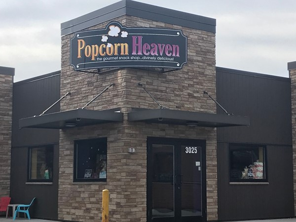 Popcorn Heaven, at the corner of Ridgeway and Kimball in Waterloo