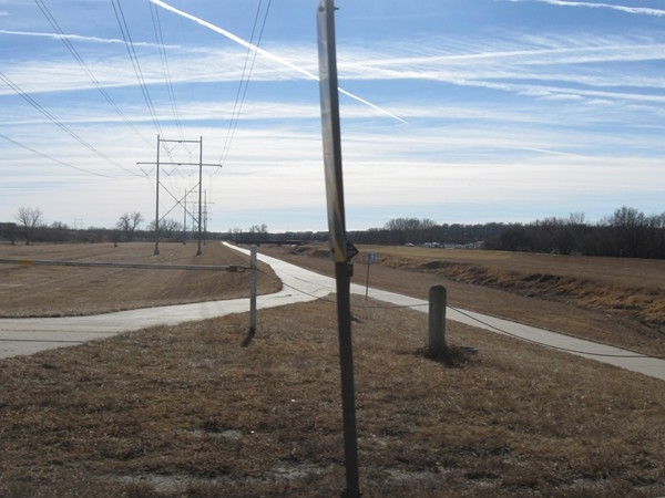 Bike, running and walking trail in Ralston
