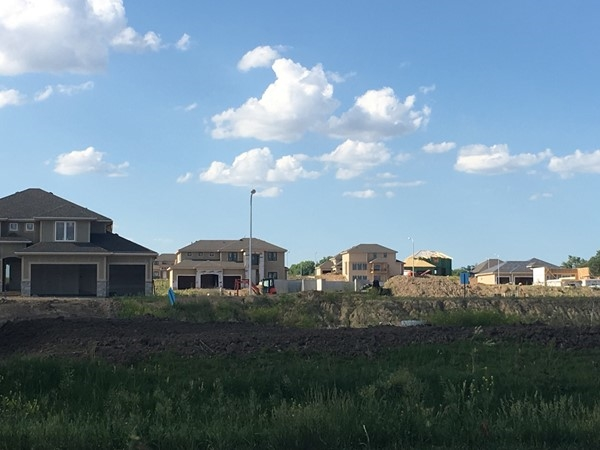 The new construction in Spruce Ridge neighborhood in Elkhorn