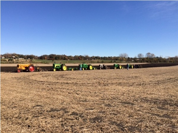 Plow Day... we joined our friends with our antique tractor; the oldest was a 1928 John Deere