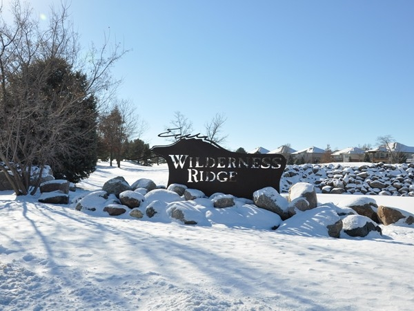 Entrance to Wilderness Ridge neighborhood located in southwest Lincoln