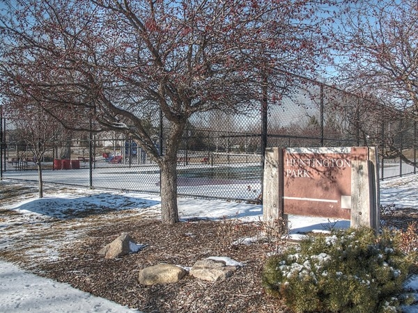 A look at the tennis court in Huntington Park