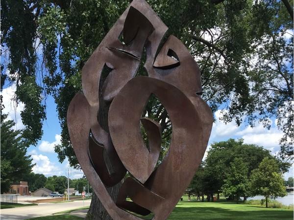 """America Graffiti"" by Jerry Cowger is in Kohlman Park near the Cedar River"
