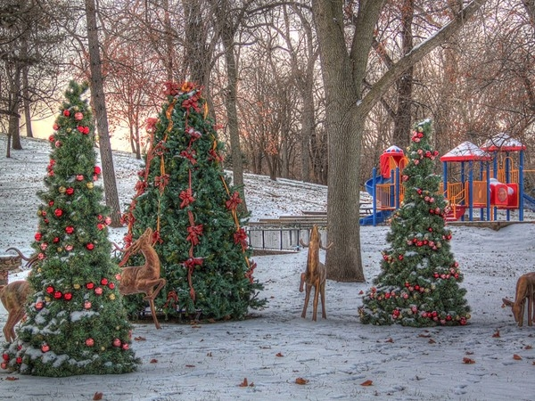 Decked out for the holidays, West Market Square is FC's oldest city park enjoyed by many generations