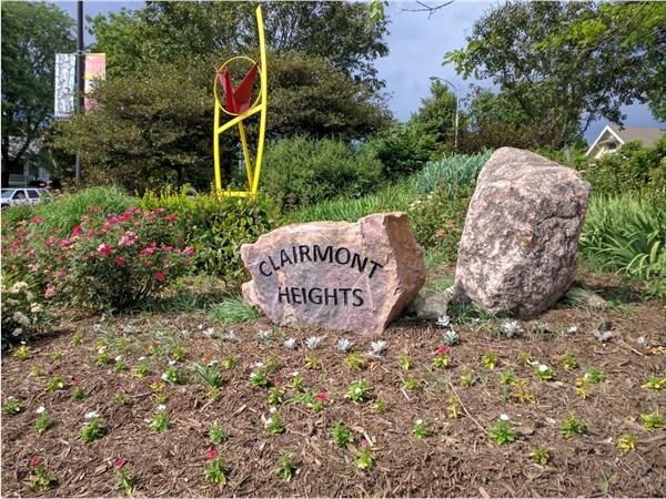 Clairmont Heights neighborhood paper crane art. Wonderful public art here