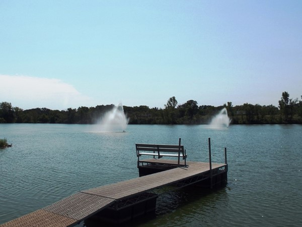 Local fishing hole and more at Myers Lake in Evansdale, Iowa