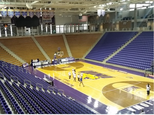 Inside the beautiful McLeod Center. UNI's winter sports teams will be playing here real soon