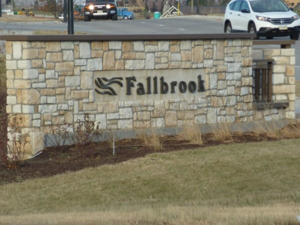 Fallbrook Development Entrance Sign