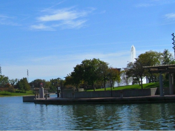 Dock at Heartland of America Park on Conagra campus in downtown Omaha