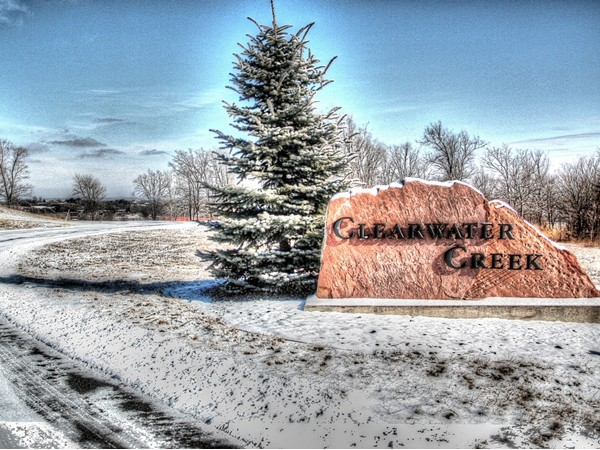 A wintery look at Clearwater Creek in Fort Calhoun...