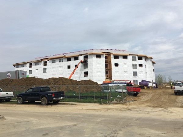 Construction is moving along on this senior independent living complex on Crow Creek Road