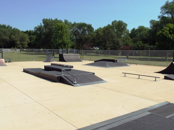 Phil Muehl Memorial Skate Park in Evasdale is located alongside the Cedar Valley Nature Trail