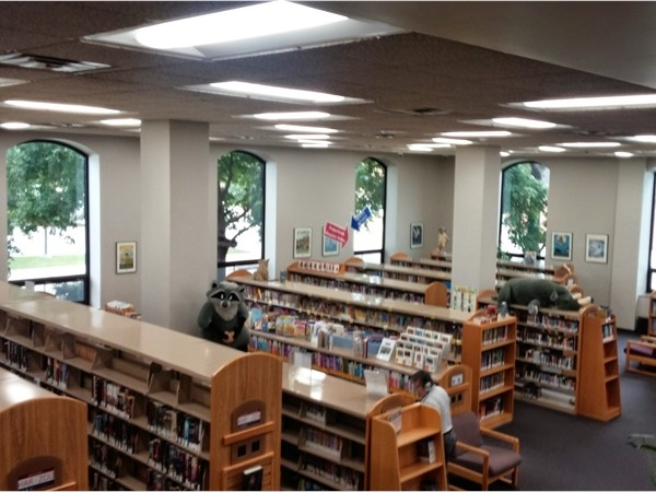 """Waterloo Public Library still shelves """"real"""" books!  Stop in and """"check out"""" the wide variety"""
